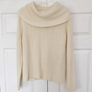 Charter Club | Cream Cashmere Cable Knit Sweater
